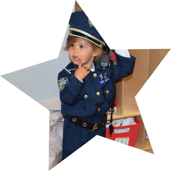 kid with police suit